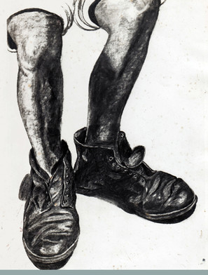 Doc Martens (charcoal on paper)