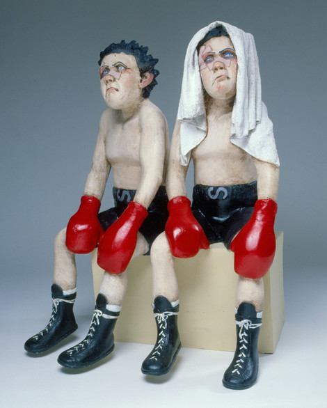 Losers (fibreglass / mixed media)