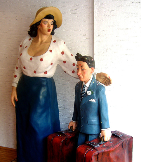 Only Just Married (fibreglass / mixed media)