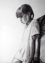 Down to Earth (charcoal on card)