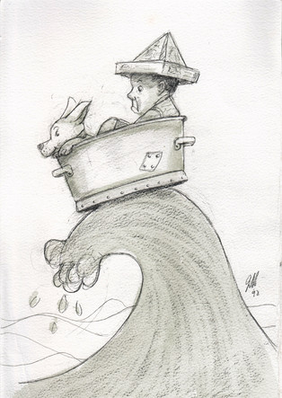 North Sea Jerry (pencil on paper)