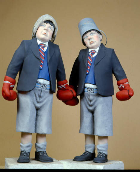 Bovver  Boys (fibreglass / mixed media)