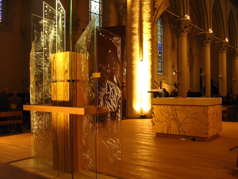 Tabernacle et autel de la chapelle des frères Jean de la Mennais