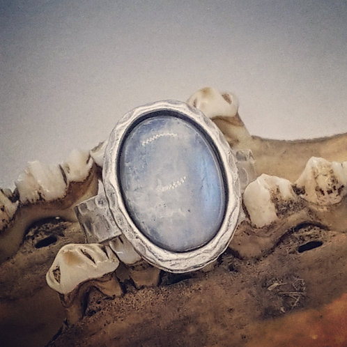 Silver Plated Moonstone Ring