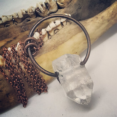 "Electroformed Quartz Point with 22"" Chain"