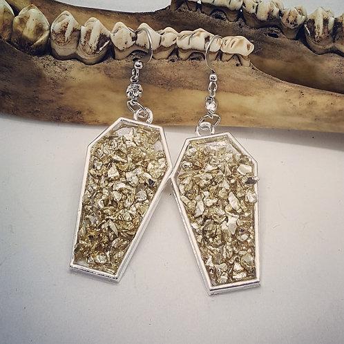 Druzy Style Coffin Earrings