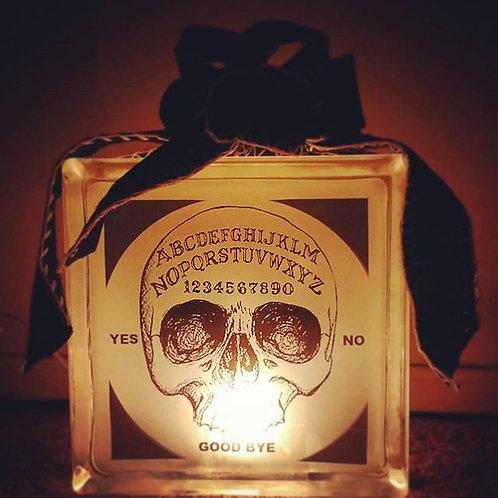 6x6 Skull Ouija Block Lamp