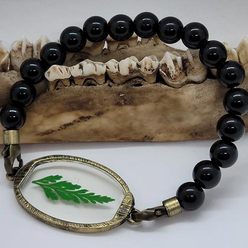 Real Fern Leaf Stretch Bracelet