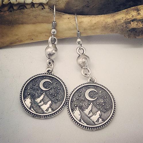 Mountain & Coyote Earrings
