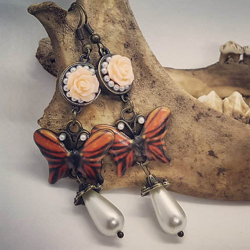 Vintage Inspired Butterfly Earrings