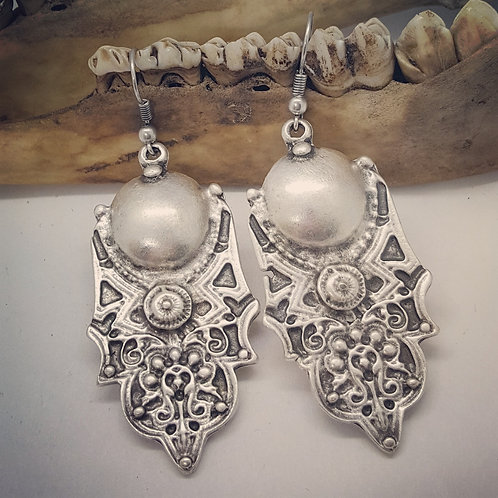 Vintage Inspired Silver Plated Earrings