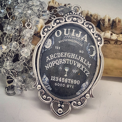 Large 30x40mm Ouija Pendant on Long Beaded Chain