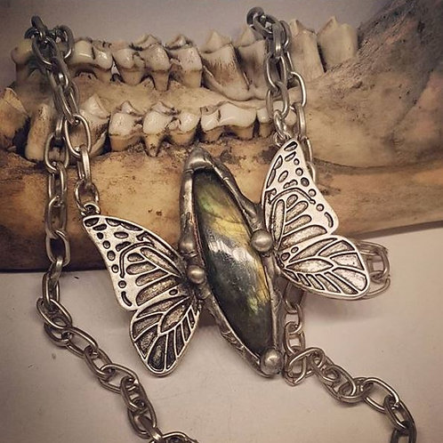 """Soldered Labradorite Butterfly on 18"""" Chain"""
