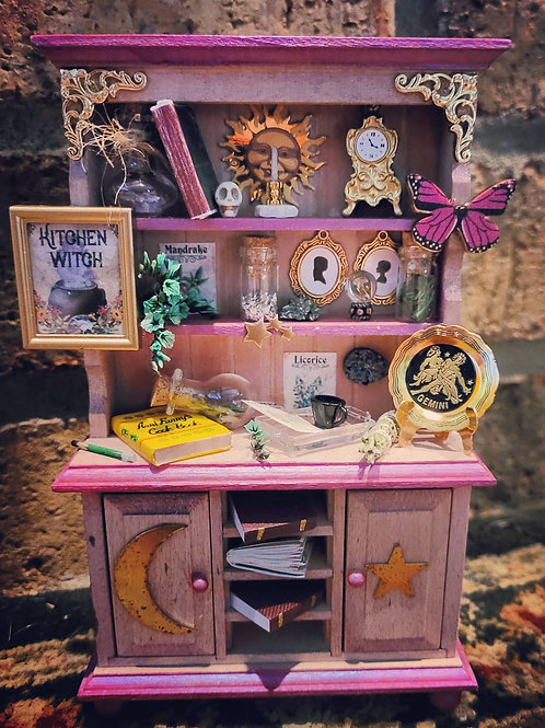 Miniature 1:12 Kitchen Witch Cabinet