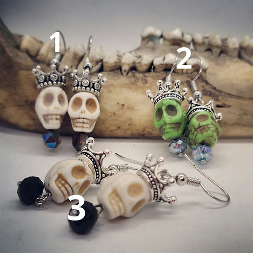 Skulls & Crowns Earrings