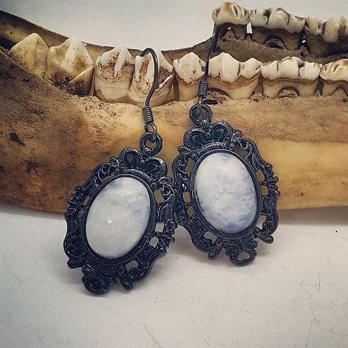Vintage Inspired Moonstone Earrings