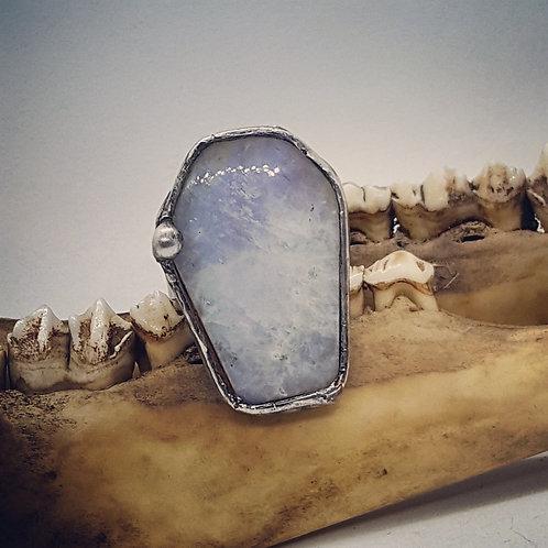 Adjustable Soldered Moonstone Coffin Ring