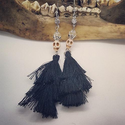 Skeleton Tassel Earrings