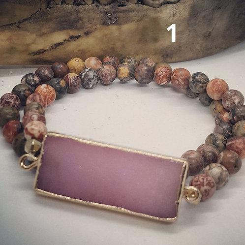 Set of 2 Stretch Bracelets