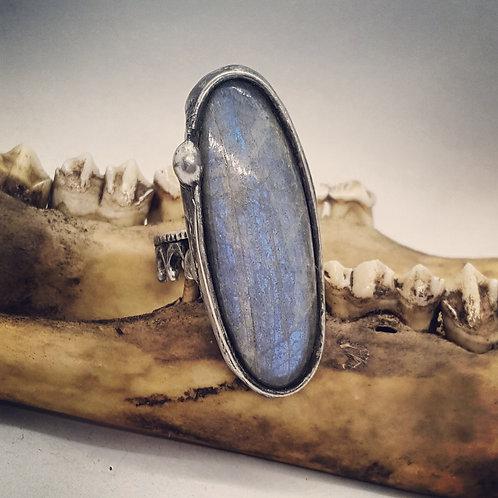 Adjustable Soldered Labradorite Statement Ring