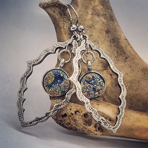 Vintage Inspired Earrings with Geodes