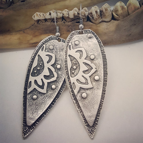 Sterling Plated Mandala Earrings