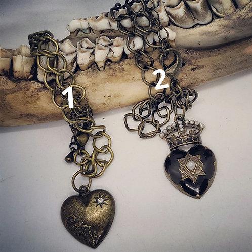 Vintage Gothic Heart Bracelets