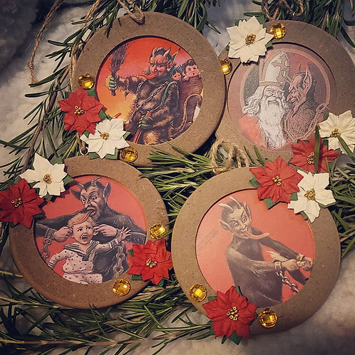 Krampus Ornament Set #1