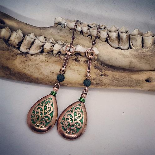 Coppertone Flourish Earrings