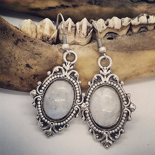 Large Moonstone Earrings