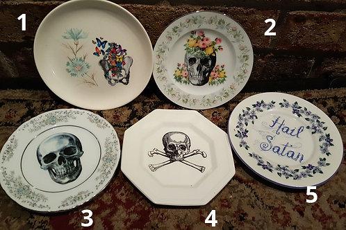 Vintage Skull/Skeleton Plates - Small