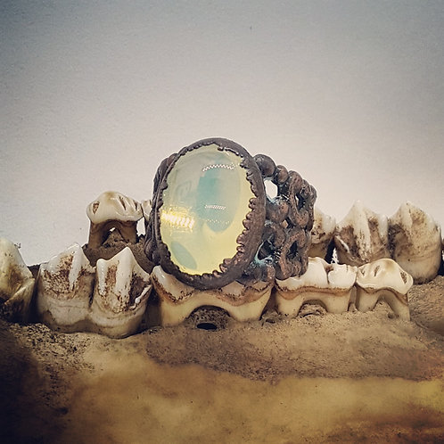 Electroformed Adjustable Uranium Glass Ring