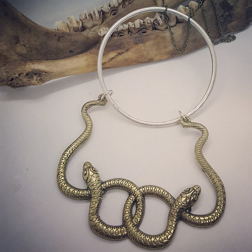"Large Double Snake on 24"" Chain"
