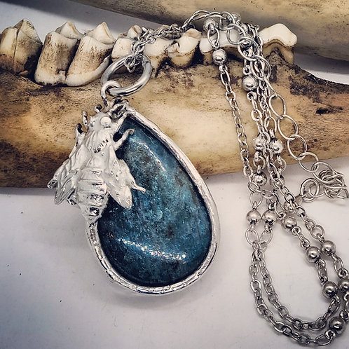 """Soldered Apatite with Bumblebee on 18"""" Chain"""