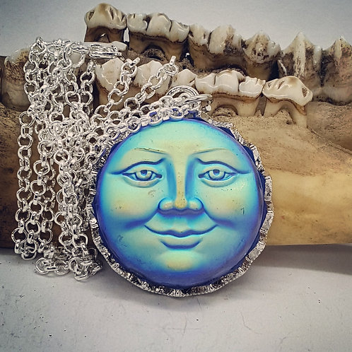 "Blue Moon on 20"" Necklace"