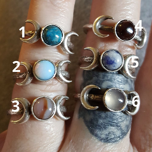 Adjustable Triple Moon Phase Rings