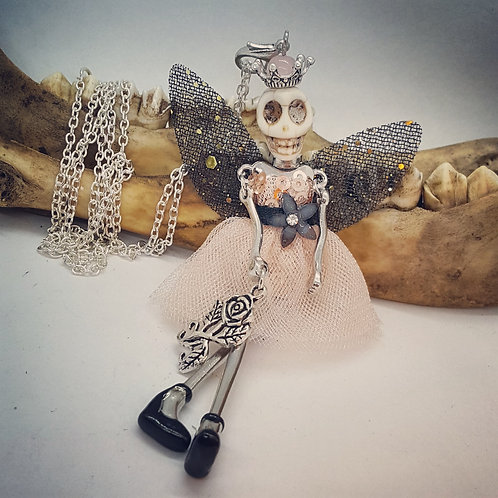 Skeleton Fairy on Long Chain