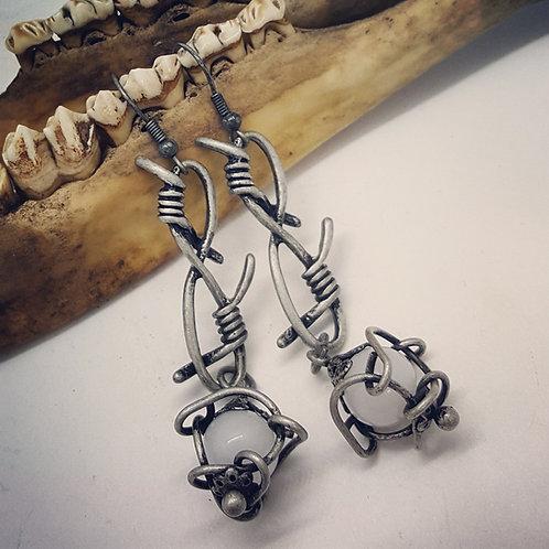 Barbed Wire Earrings