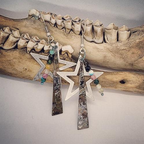 Stars & Beads Earrings