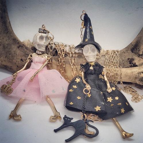 Ballerina Skelton Necklace