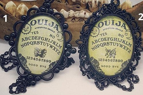 "30x40mm Black Ouija Pendant on 24"" Chain"