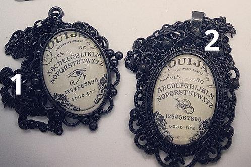 "18x25mm Black Ouija Pendant on 22"" Chain"
