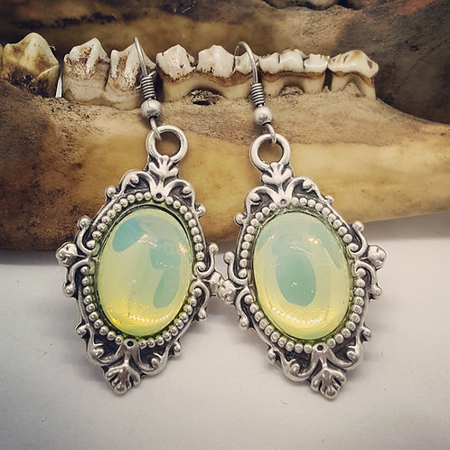 Uranium Glass Earrings