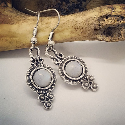 Small Moonstone Earrings