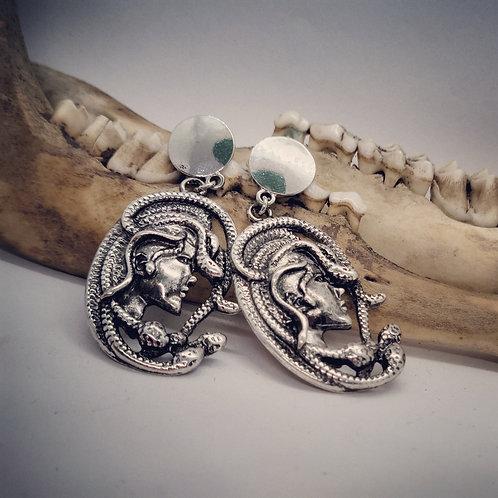 Medusa Post Earrings