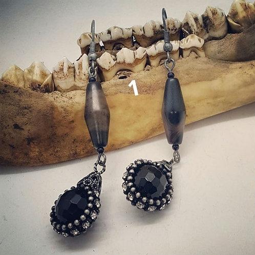 Agate & Chain Earrings
