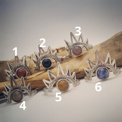 Adjustable Silver Plated Evil Eye Rings