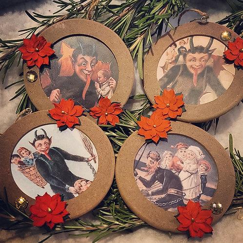 Krampus Ornament Set #2