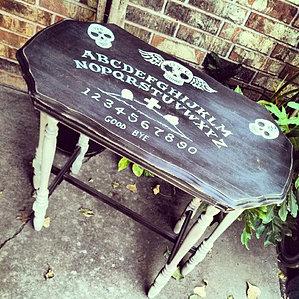 Vintage 6 Legged Sugar Skull Ouija Table   $150