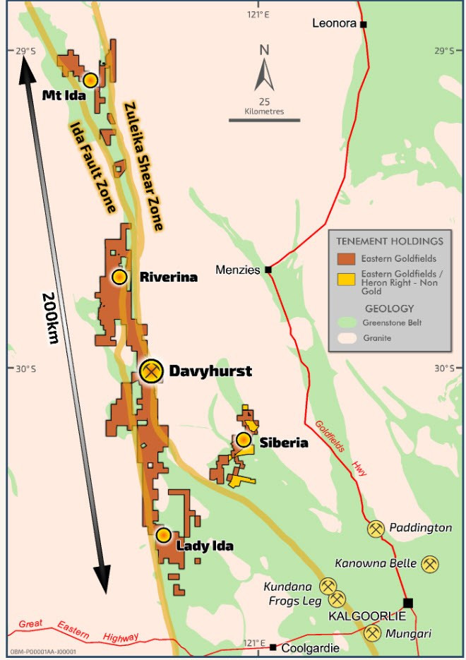 Eastern Goldfield Project Map. Samso Insights